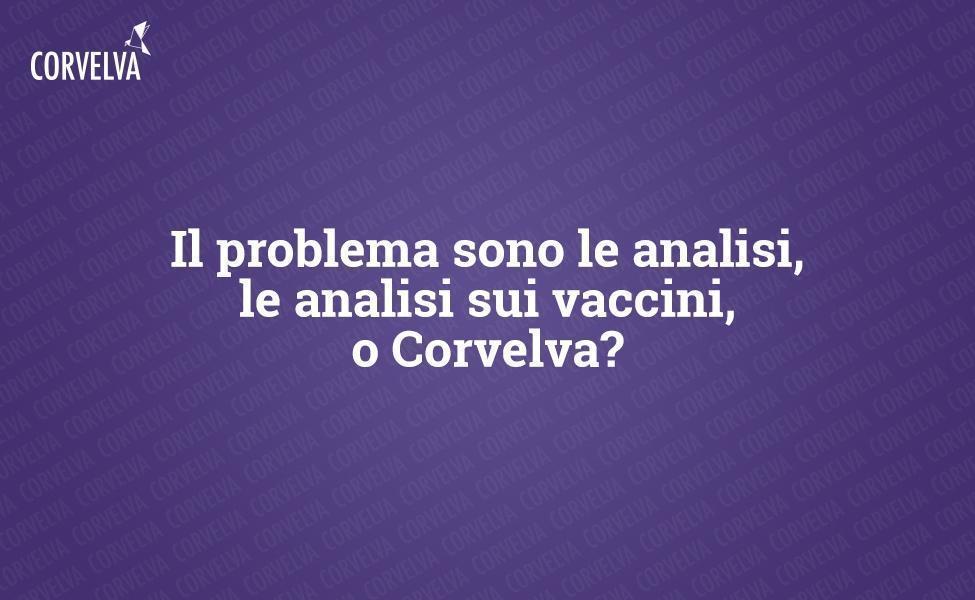 Являются ли тесты, тесты на вакцины или Corvelva проблемой?