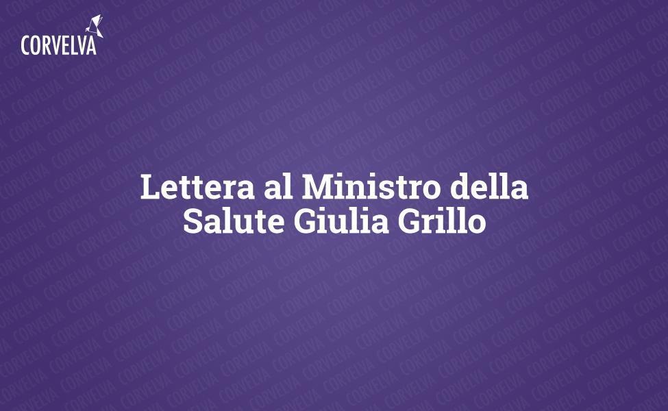 Lettre à la ministre de la Santé Giulia Grillo