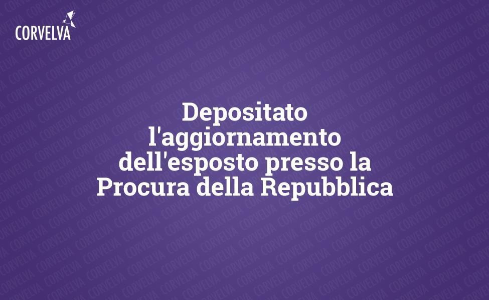 Presentó la actualización de la denuncia ante el Fiscal de Roma
