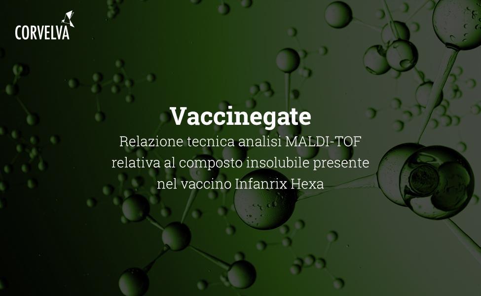 Relatório técnico de análise MALDI-TOF do composto insolúvel presente na vacina Infanrix Hexa