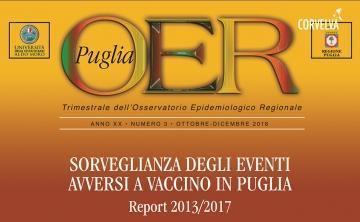 Puglia region. Surveillance of adverse vaccine events in Puglia. 2013/2017 report