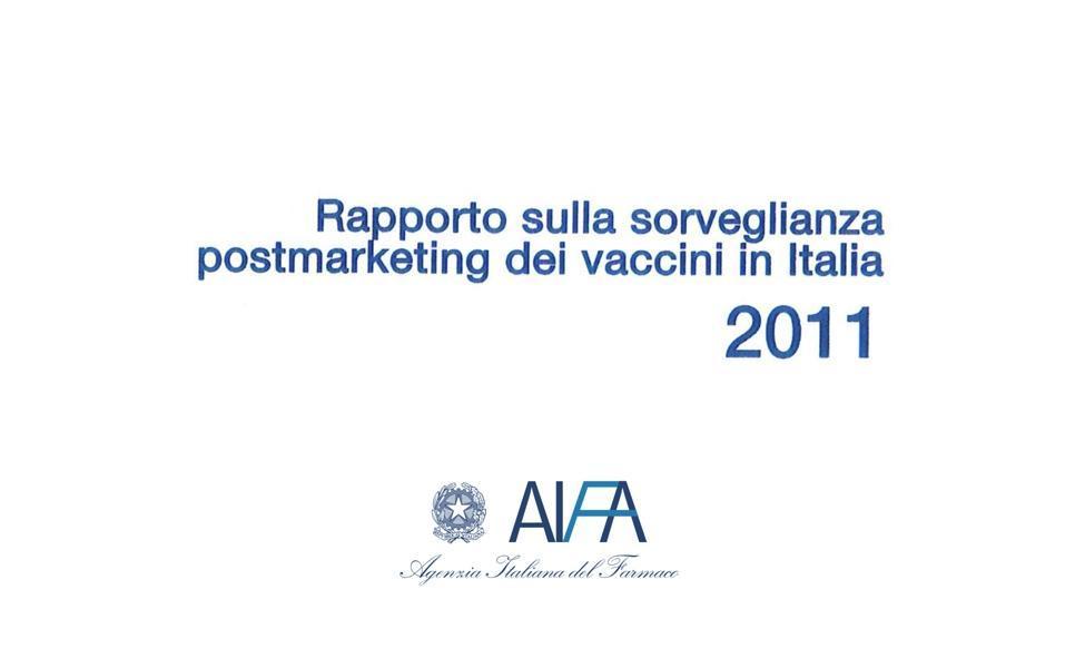 AIFA: Impfbericht 2011 - Überwachung nach dem Inverkehrbringen in Italien