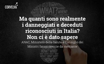 But how many really are the damaged and deceased recognized in Italy? We are not told