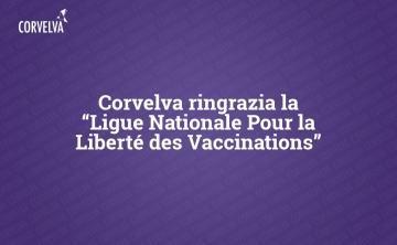 קורבלבה מודה ל- Ligue Nationale Pour la Liberté des Vaccinations