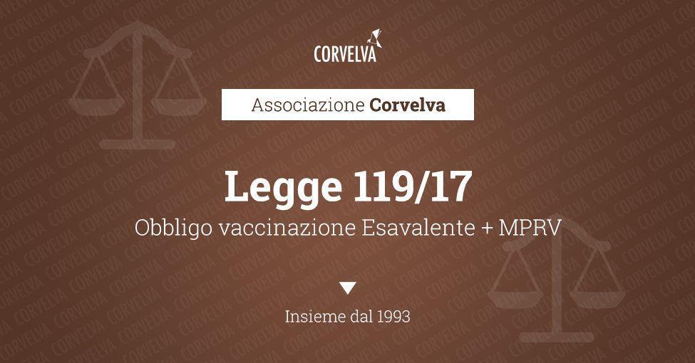 Loi 119/2017: Transformation en loi, avec modifications, du décret-loi 7 juin 2017, n. 73, contenant des dispositions urgentes sur la prévention des vaccins