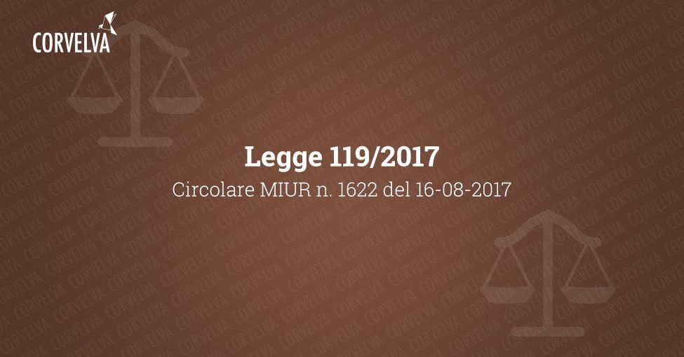 MIUR Circulaire no. 1622 du 16/08/2017